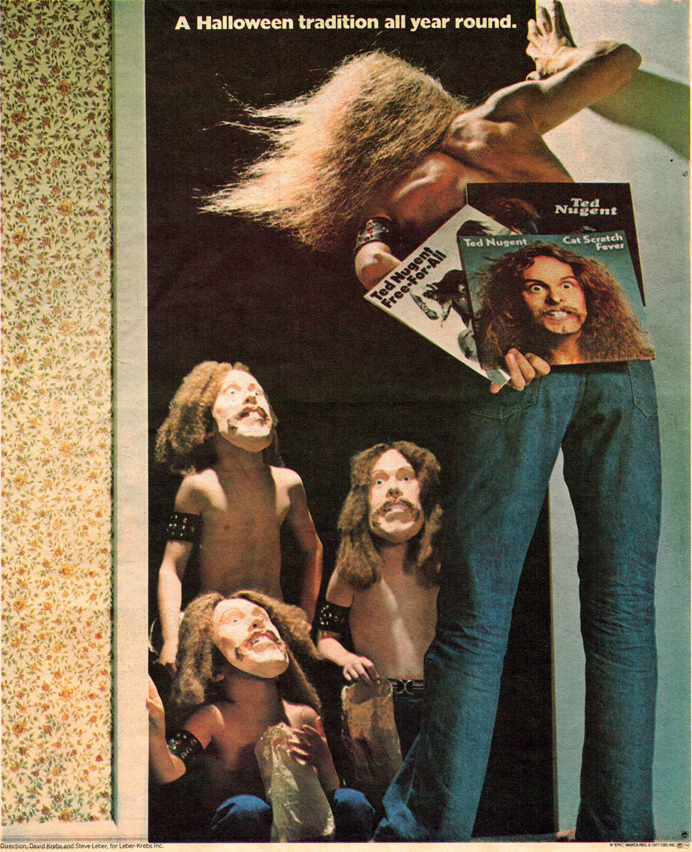 Photo - 1977 Print Ad For Ted Nugent Halloween Costume